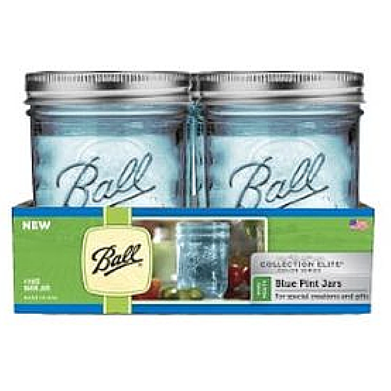Giveaway! Ball brand wide mouth pint jars in adorable blue!
