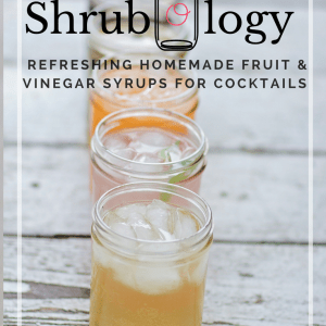"Shrubology: Refreshing homemade fruit & vinegar syrups for cocktails | The Domestic Wildflower This ebook explains how to make these old fashioned fruit and vinegar syrups that are easy to make, versatile in cocktails where you can add or skip the alcohol and make homemade cocktails perfectly attainable, even if you don't cook! Grab the ebook now and learn how to make these sweet tart gems! Did I mention they are ""no cook""?"