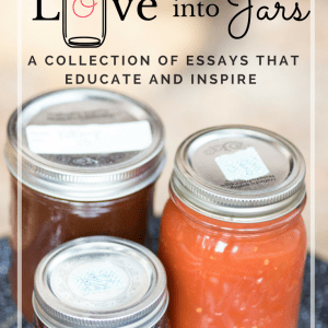 **FREE BOOK ALERT** Canning is Putting Love into Jars ~ this ebook is a collections of essays that explain the ways how canning is exactly that. It will address matters of practicality, but mostly of the heart. I hope it motivates you to try canning for yourself, for satisfaction of the body and soul. This ebook will teach you why in the world you should start canning, how it will transform your diet, your cooking routine, and reconnect you with your food in the best way.
