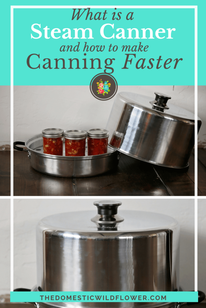 What is a Steam Canner and How to Make Canning Faster! Read this post that explains the new way to can that saves tons of time and money! Read this post if you want to cook healthy, homemade food but don't have tons of time. Learn how to preserve using a steam canner today!