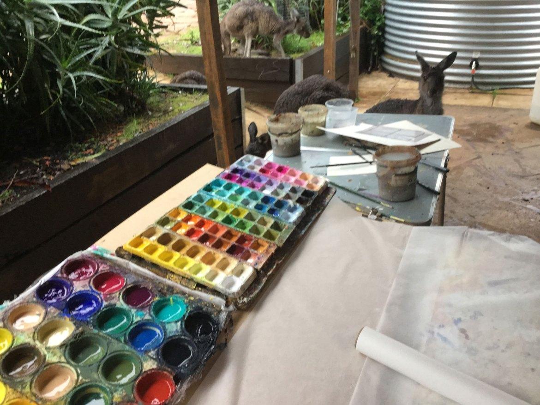 Jennifer Hopewell - Kangaroos on the porch