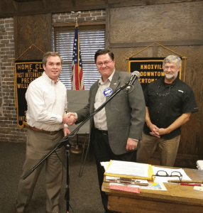 Induction of Lee Freeman into the Knoxville Downtown Sertoma Club