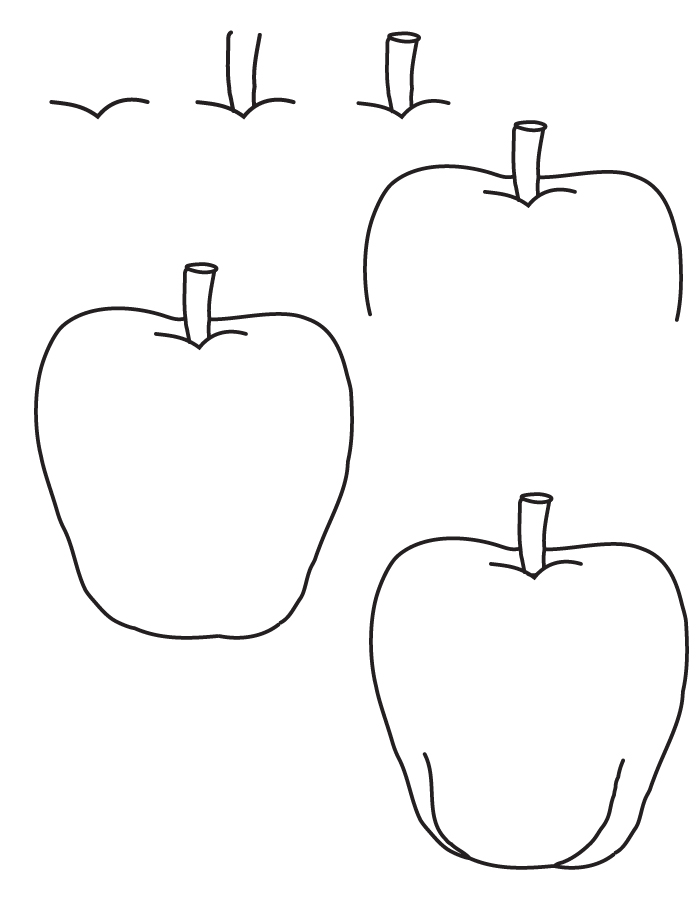 Drawing apple