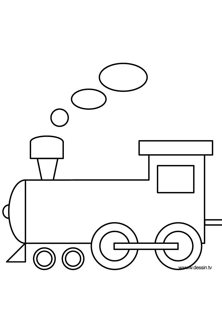 Coloring locomotive