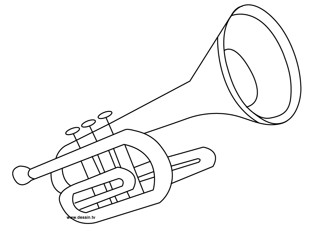 Trumpet Printable Coloring Pages