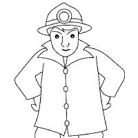 Drawing fireman