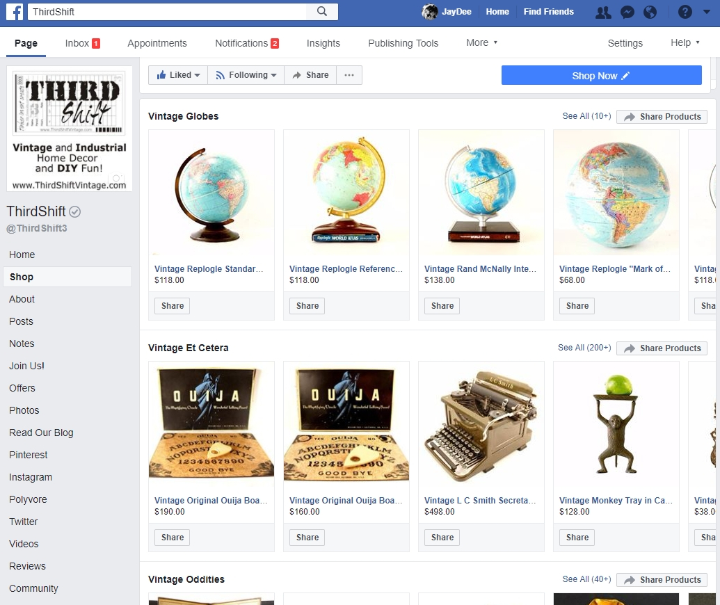 QUICK TIP: Facebook Shop Setting - The Drawing Board³
