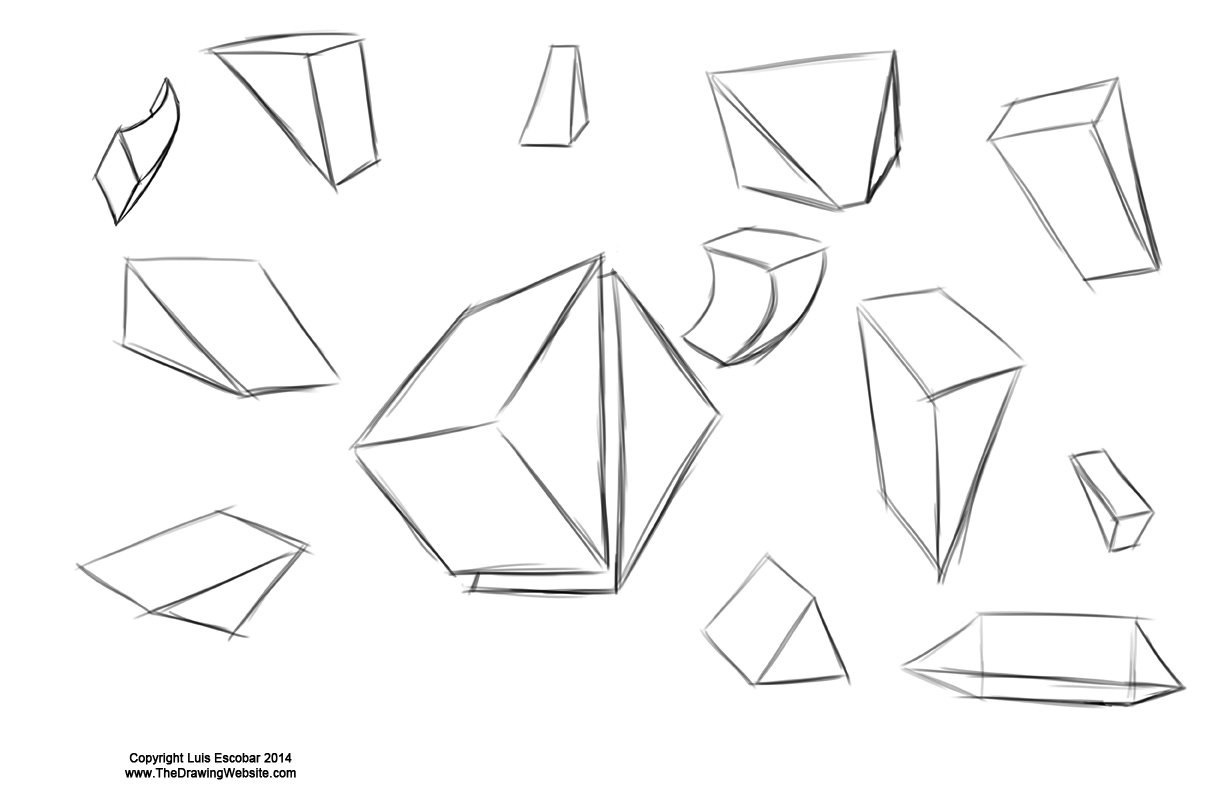 practicing your draw fu forms – forms are like sentencesthe drawing
