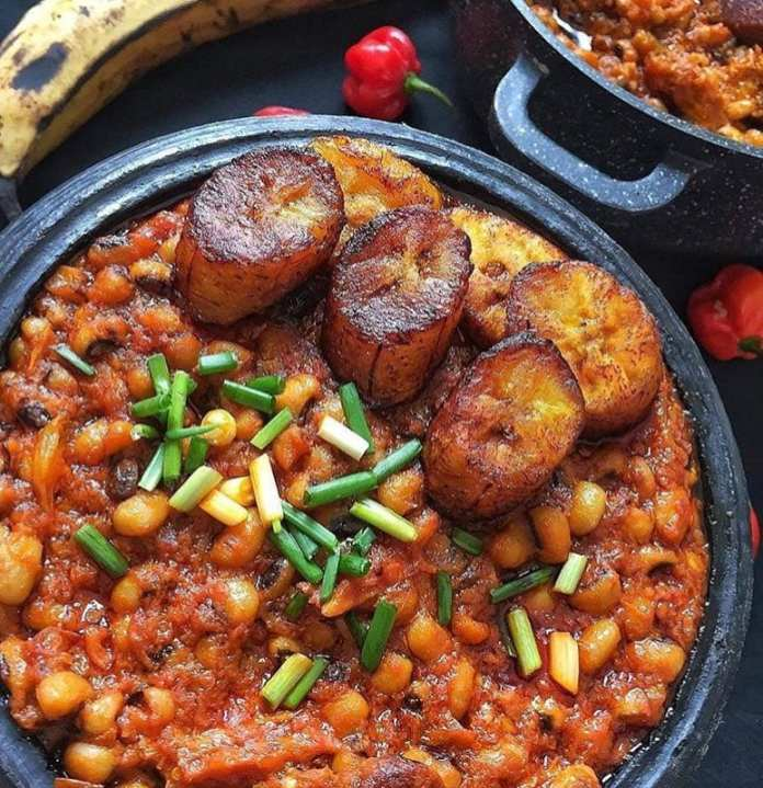 how to cook beans and plantain