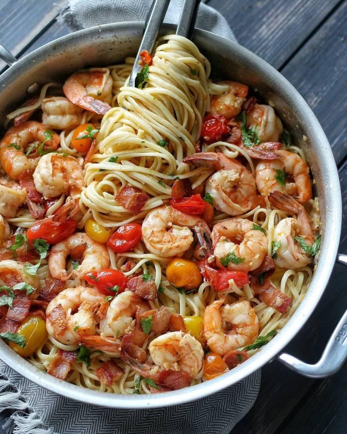 how to make Classic Shrimp Scampi Spaghetti Recipe