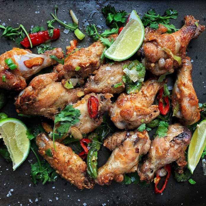 Spicy Peppered Chicken Wings