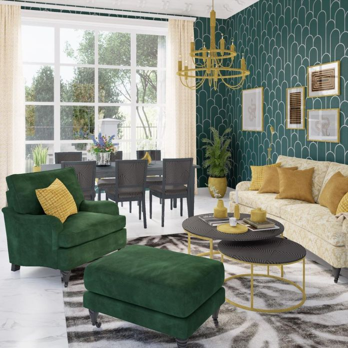 green colour scheme decor