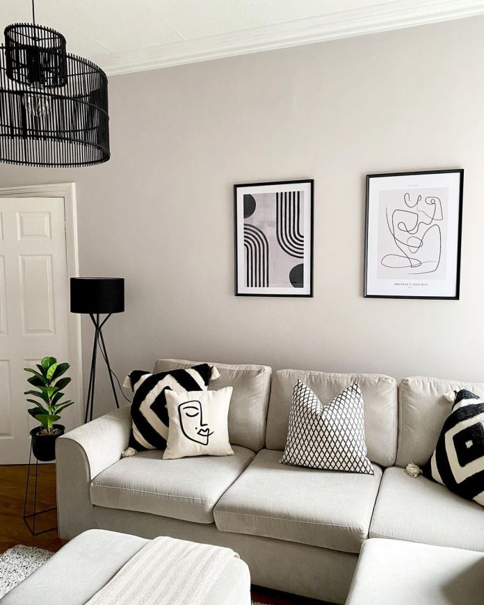 aesthetic monochrome home decors