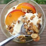 Peach Cobbler Buttermilk Ice Cream