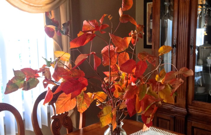 Simple Fall Foliage Centerpiece