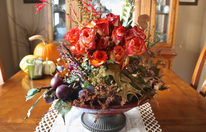 Thanksgiving Centerpiece with The Bouqs Company