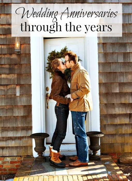 Wedding Anniversaries Through the Years