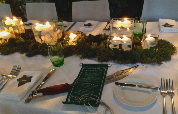 Lord of the Rings Inspired Forest Table