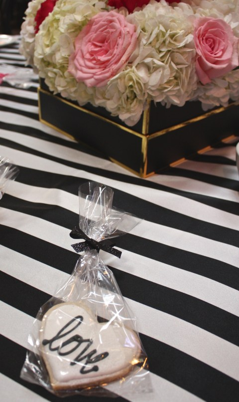 Black, White + Gold Ultra Feminine Bridal Shower
