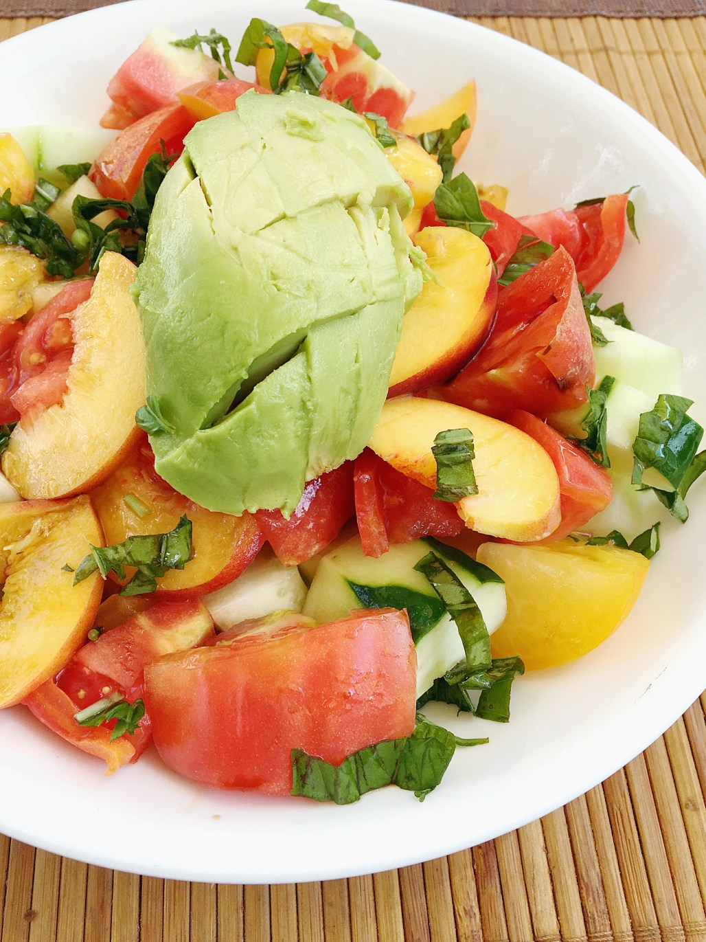 Peach, Heirloom Tomato & Avocado Salad