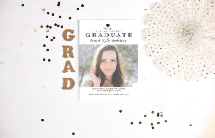 Graduation Stationery from Basic Invite