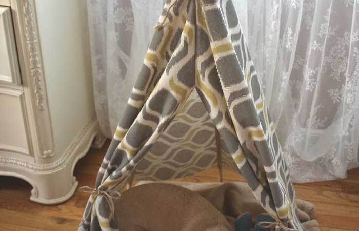 DIY Child or Pet Teepee