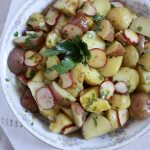 Heirloom Potato Salad with a Fresh Herb Mustard Dressing