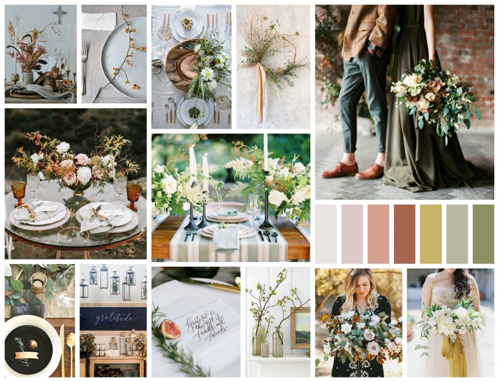 Autumn Mood || Earthy Greens, Soft Natural Hues & Snippets of Black | Dreamery Events