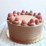 Chocolate Raspberry Cake with Whipped Chocolate Raspberry Buttercream