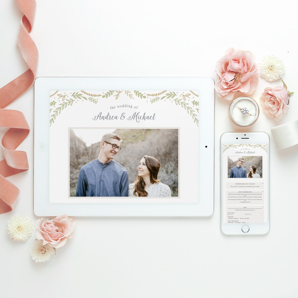 Formal Save the Dates with Basic Invite