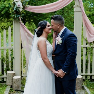 Nicole & Jerry's Boho Garden Wedding at The Oakeside Mansion    Dreamery Events