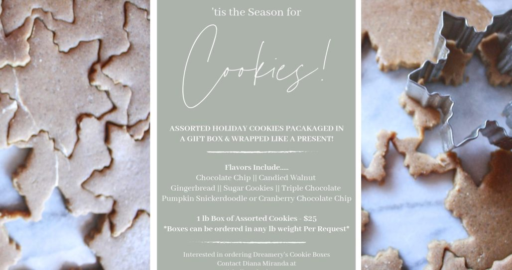 Dreamery 2019 Holiday Cookie Menu
