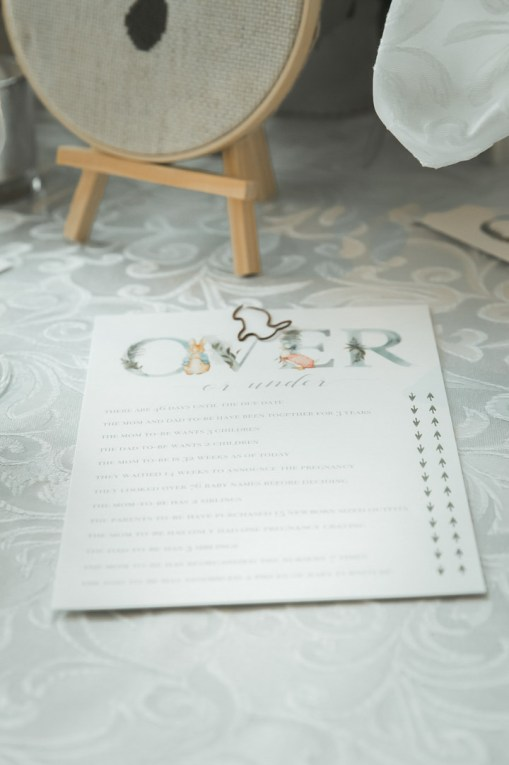 A Baby Shower Inspired by Peter Rabbit stories with a Dessert Swing handmade by Dada || Dreamery Events