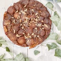 Salted Caramel Walnut Tarte Tatin || Dreamery Events