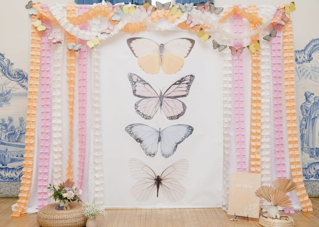 A Boho Butterfly Garden Birthday Inspired by an Amber Sunset Color Palette || Dreamery Events