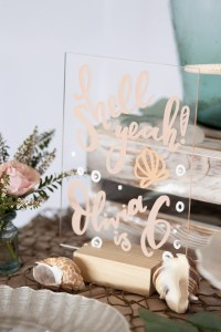 A Modern Floral Under the Sea Birthday   Dreamery Events