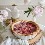 A Berry Sour Cream Custard Pie with Phyllo Crust