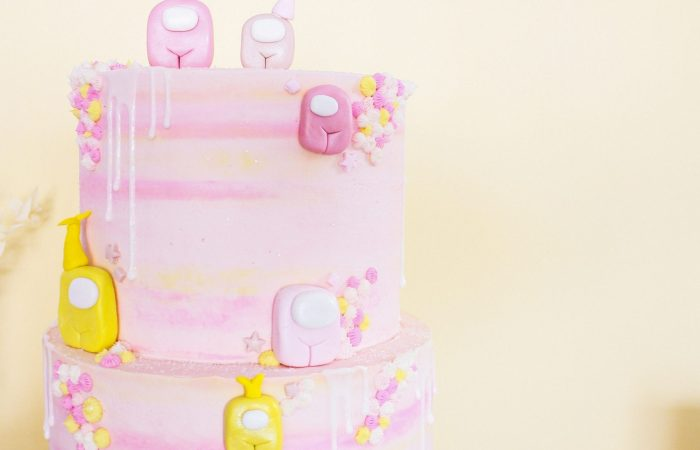 """There's a Pink & Golden 7th Birthday """"Among Us""""!    Dreamery Events"""