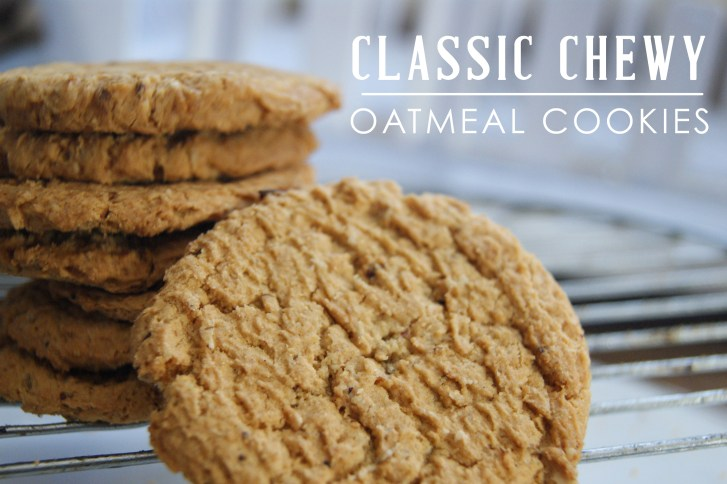 Classic chewy oatmeal cookies recipe