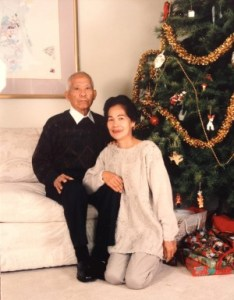 My parents' last Christmas together in Folsom, 1994.