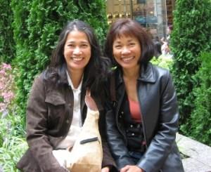 My sister, Heidi, and me at Rockefeller Center, New York, September 2012.
