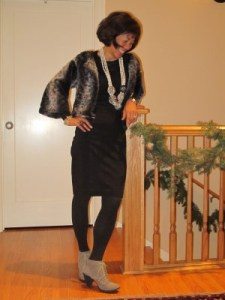 Mixing black and gray for the holidays, 2011.