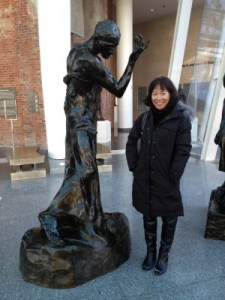 Rodin and me at the Brooklyn Museum.