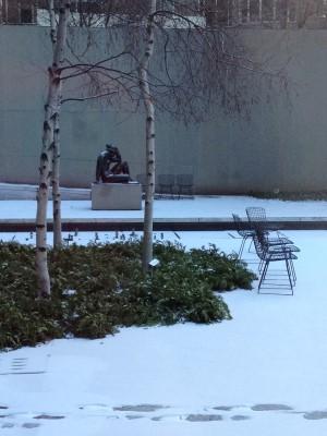 A still garden at the MOMA - the Abby Aldrich Rockefeller Sculpture Garden was closed.