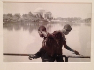 B&W photo, photographer unknown, 1950s in Washington, D.C. I love the mirroring images within this photograph.