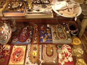 Just one slice of Uncommon Objects' vintage jewelry display.