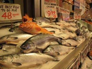 Seafood does not get any fresher than this at Pike Place Market.