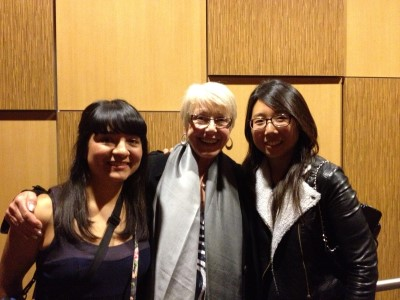 Sharon Arteaga, Karen Grassle, and Jisoo Kim at Lunafest 2013.