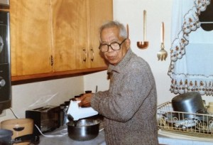 Dad liked making cakes. He lined the kitchen cabinet shelf with a row of Betty Crocker yellow cake mixes.