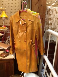1970s, wide-lapelled, gold-buttoned, shiny rain slicker: So bad it's cool. Or not?
